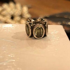 Pandora peridot charm